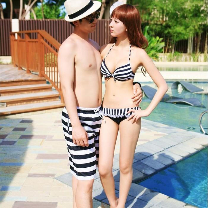 couple beach pants manufacturers, wholesale and quick casual shorts bikini steel prop piece suit big size(China (Mainland))