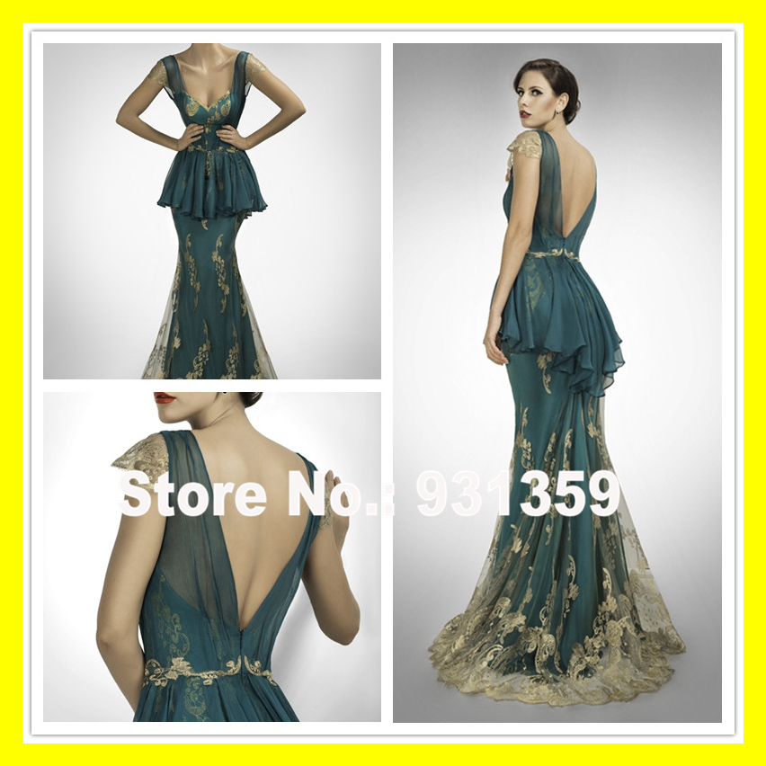 Gown Evening Dress Pretty Dresses Grey Designer Formal Trumpet /Mermaid Floor-Length Built-In Bra Lace Court Train 2015 Discount(China (Mainland))
