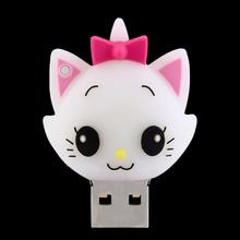 Portable Cute White Cat Mini 8GB USB Pen Disk Flash Drive Digital(China (Mainland))