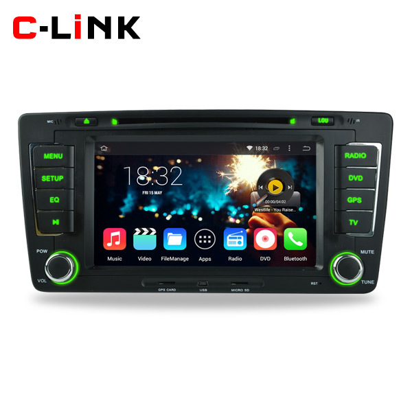 Quad Core 1024*600 Touch Screen Android 4.4 Car DVD Video Stereo Radio Player For VW Volkswagen Skoda Octavia 2012 2013 WIFI 3G(China (Mainland))