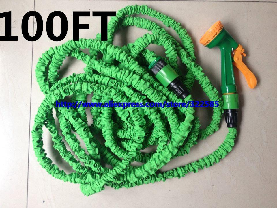 Hot sale 100 ft rewindable and anti corrosion expandable rubber hose garden water hose blue and Expandable garden hose 100 ft