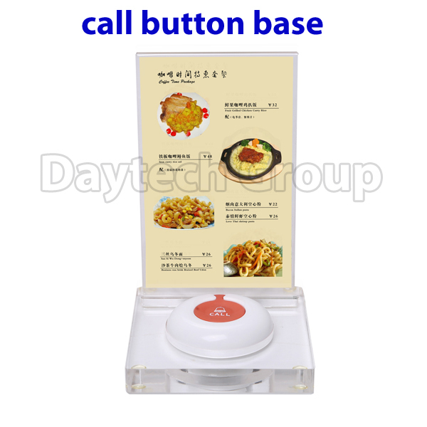 Wireless pager system Table menu holder call button base restaurant menu holder(China (Mainland))