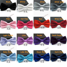 Free shipping New 2014 Wholesale Formal Male Solid Candy Color bow ties for Men Casual Gravata