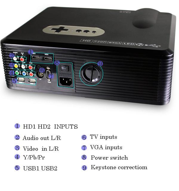 HOT SALE !!!2015 LATEST brightness 3000 lumens DIGITALProjectors hd 3d Home Cinema Multimedia Player with HDMI /AV/VGA/SD/USB(China (Mainland))