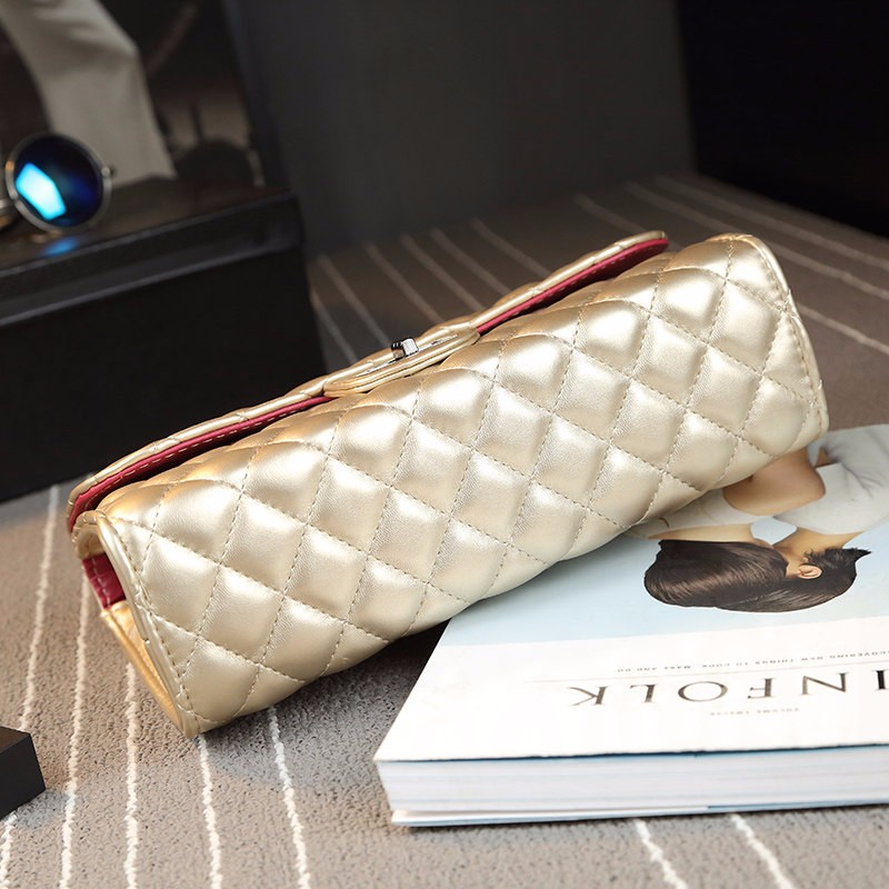 Classic Fashion Quilted Bag Stylish Chain Bag Trendy Diamond Lattice Women Shoulder Bag Ladies Luxury Ladylike PU Crossbody Bag