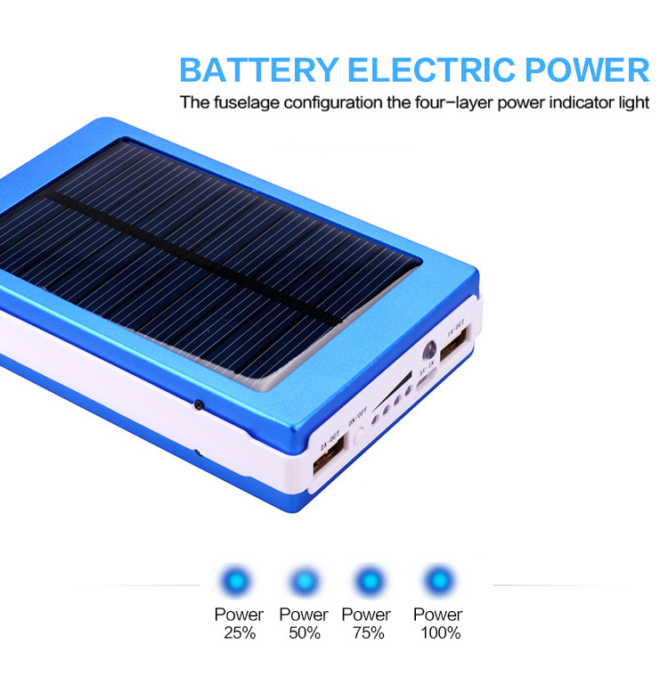 New portable solar charger 15000mAh power bank 18650 Charging external battery mobile Power for cell phone portable charger(China (Mainland))