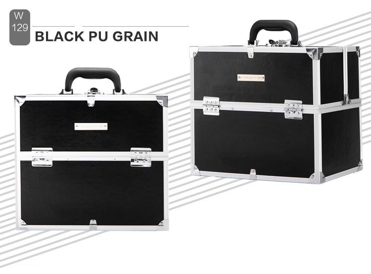 New Fashion Portable Waterproof Women Makeup case Make Up Storage Organizer Box Beauty Case Travel Pouch Black(China (Mainland))