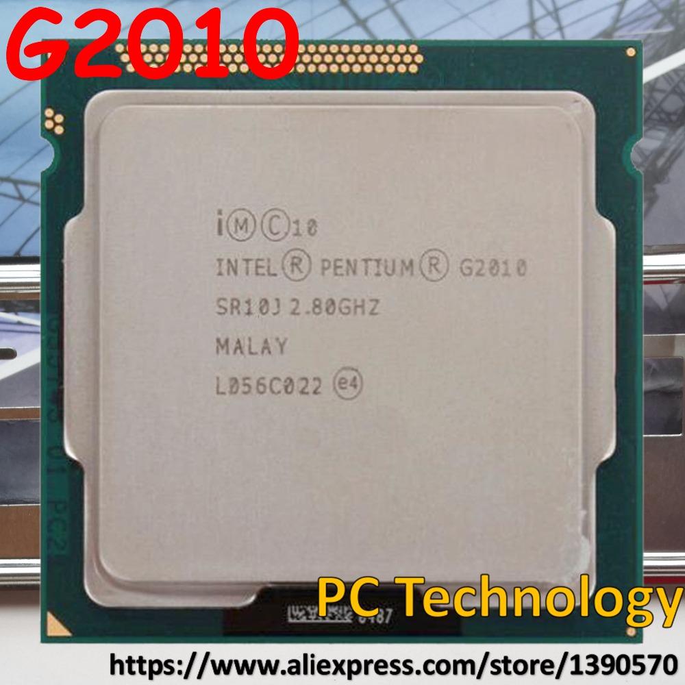 الأصلي إنتل g2010 المعالج cpu 2.8 جيجا هرتز 3 متر lga1155 55 واط المكتبي ثنائي النواة