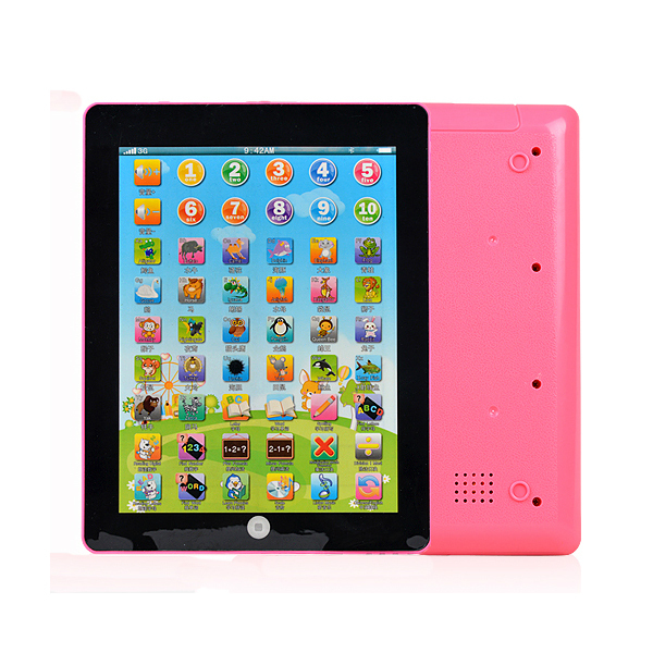 Kids Educational Computer Tablet Chinese English Learning Study Machines Toys #53642(China (Mainland))