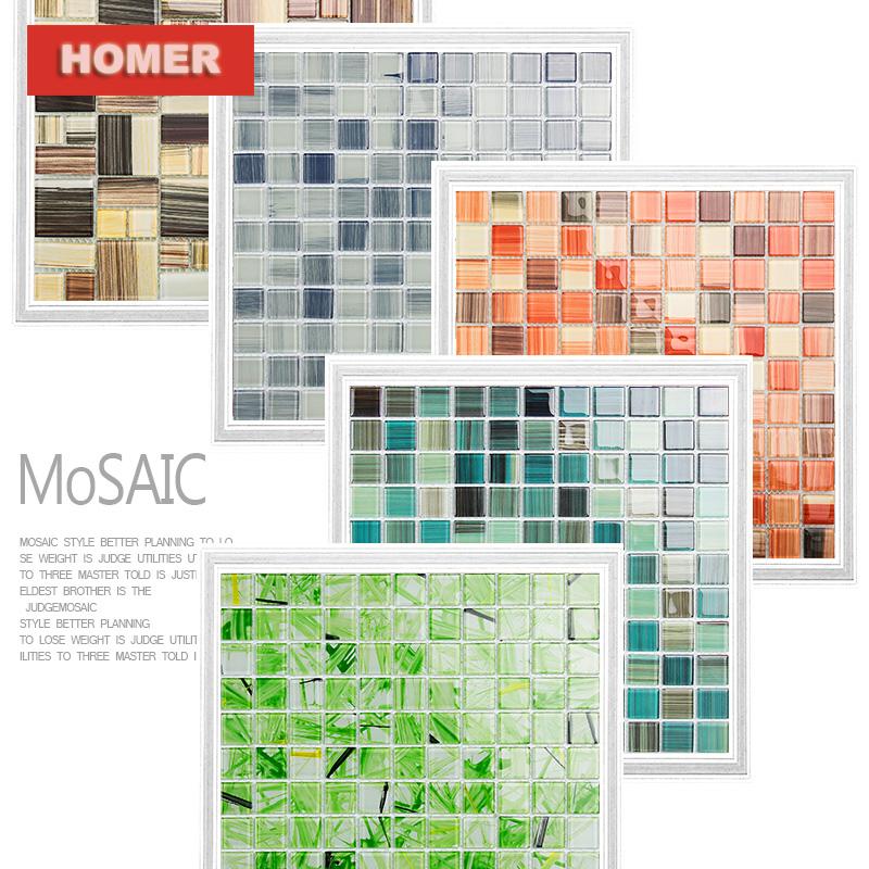 five colour hand painted DIY crystal glass mosaic tiles HMGM1157 children kids room kitchen backsplash tile bathroom wall tile<br><br>Aliexpress