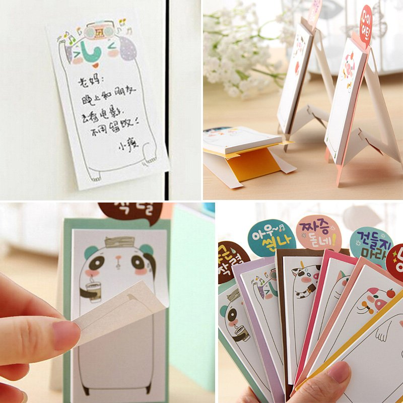 Гаджет  1PCS Free Shipping 2015 Korea Stationery Cartoon Animal Panda Sticker Post It Bookmarker Memo Pad Flags Sticky Notes None Офисные и Школьные принадлежности