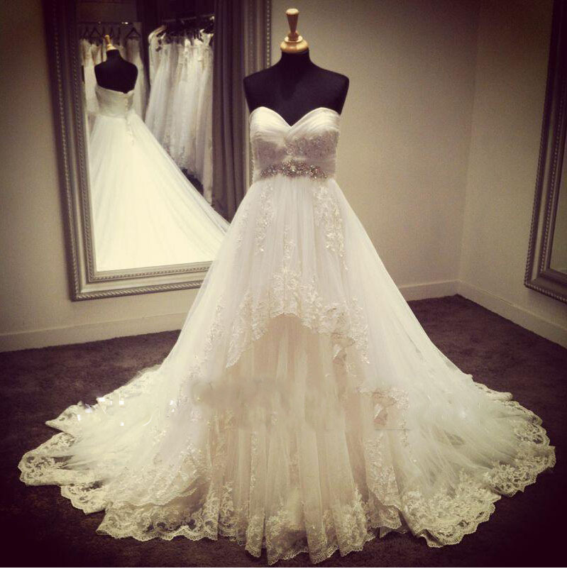 Wedding Dresses For Bride Real Ball Gown 2015 Appliques
