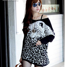 2015 New Loose Maternity Clothes Print Leopard Bat Sleeve Casual Clothes For Pregnant Women Pregnant T Shirt O-neck Long Sleeve(China (Mainland))