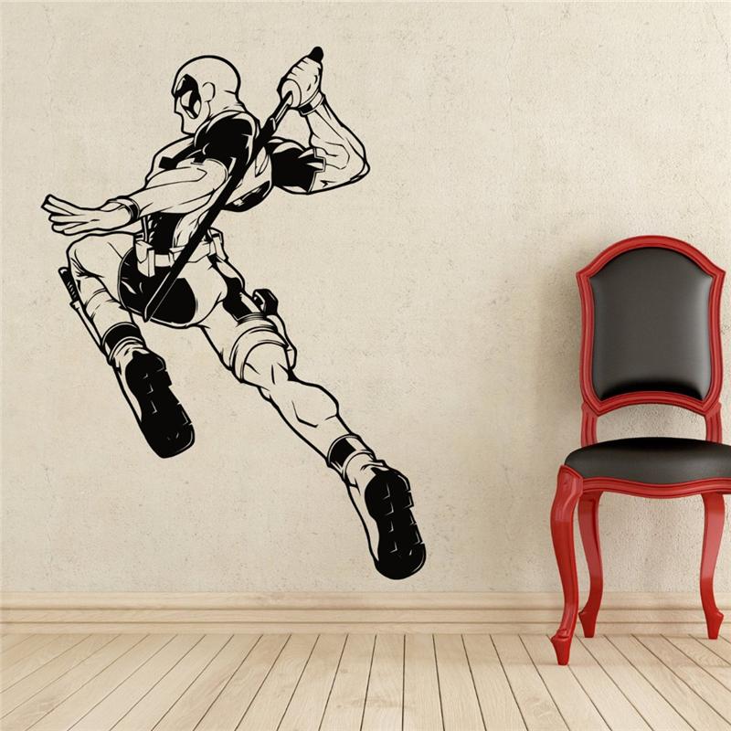 deadpool wall decal superhero vinyl sticker wall decor