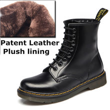 DONGNANFENG frauen Weibliche damen frau Knöchel Stiefel Schuhe Winter Frühling Kuh Echtes Leder Lace Up Schuhe Punk Plus pelz warme casual Reiten Equestr Botas Mujer Plus Größe 43 44 YDL-666(China)