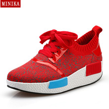 Minika 7 Colors New 2016 Fashion Women Wedge Shoes Qulality Canvas Shoes Spring Autumn Female Shoes Zapatos mujer A238(China (Mainland))