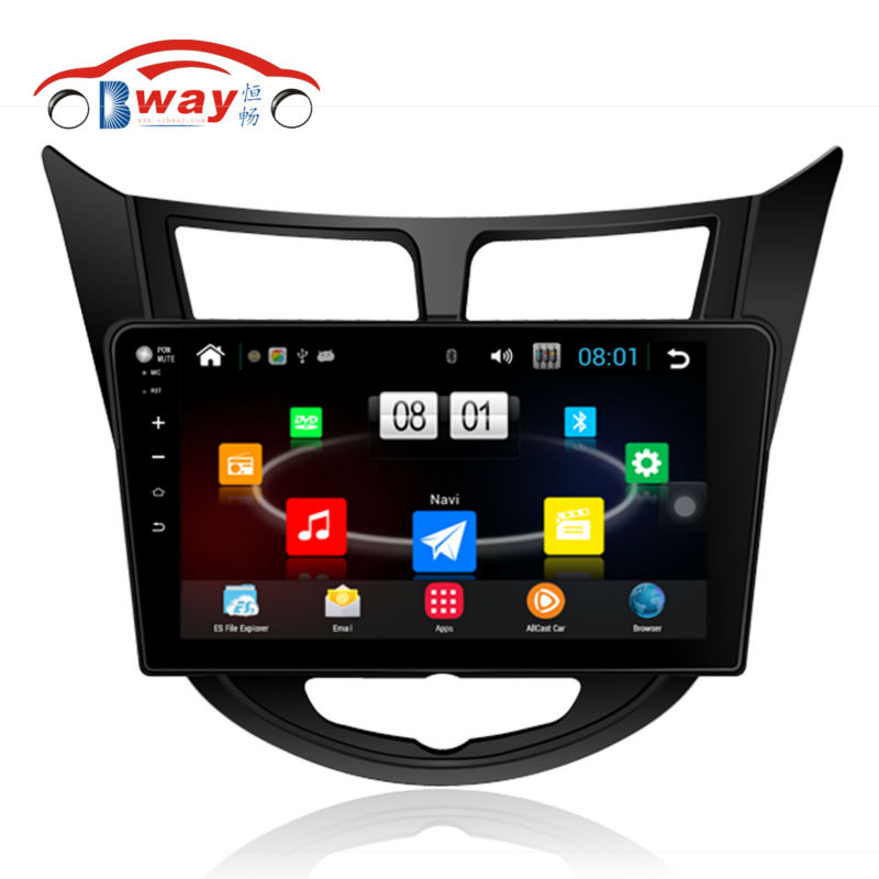 """Bway 10.2"""" 2 din Car radio for Hyundai Verna Solaris Accent Quadcore Android 4.4 car DVD player with 1G RAM,16GB iNAND,wifi(China (Mainland))"""