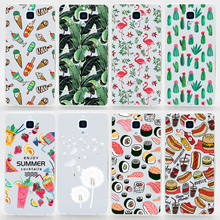 TPU Soft Cases For Xiaomi Mi4 Transparent Printing Drawing Ultra-Thin Silicone TPU Phone Cover For Xiaomi 4 M4