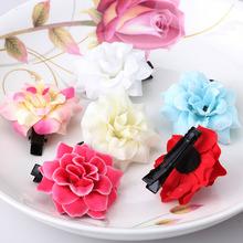 1PC Baby Peony Silk Fabric Flower Hairpins Princess Hair Accessories Best Hair Ornaments Children Hair Clip(China (Mainland))