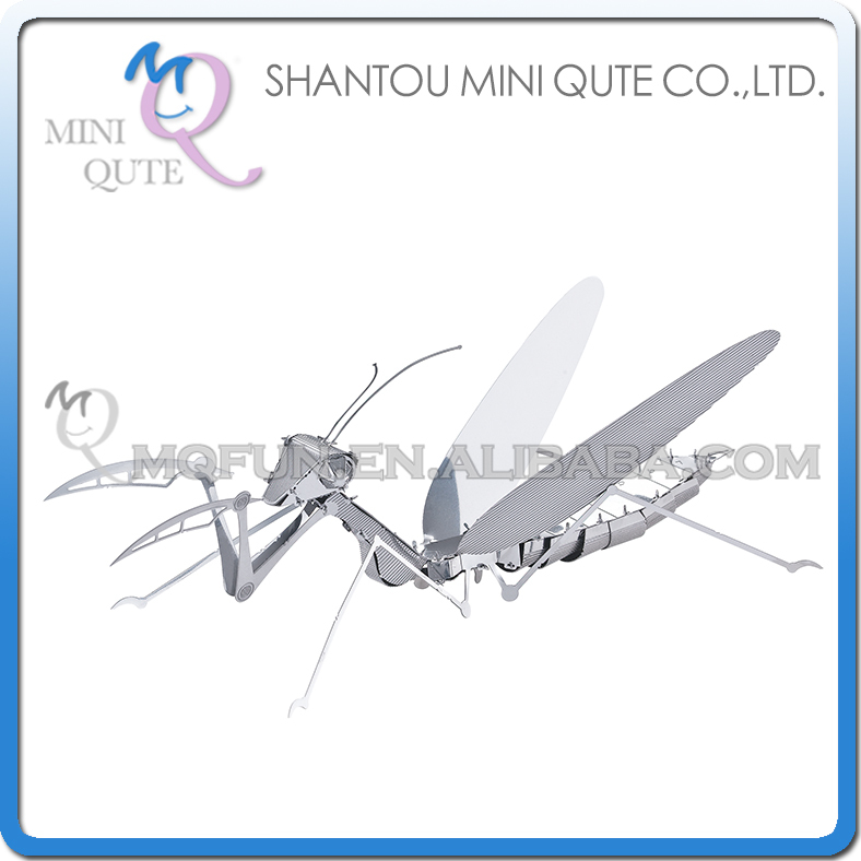 Mini Qute 3D Metal Puzzle Mantis insect animal Adult kids model educational toys gift NO.L11101(China (Mainland))