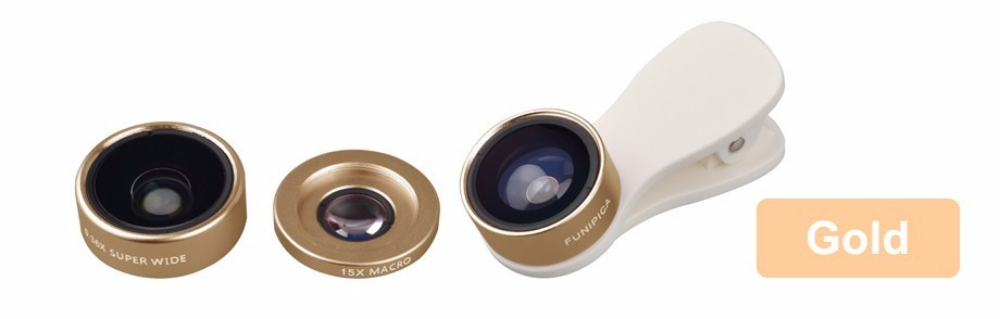 3in1 Clip-on HD Phone Camera Lens Kit Fisheye 0.36X Wide Angle 15X Macro Mobile Lenses For Meizu m3e m2 mini m3s mx4 m2 note