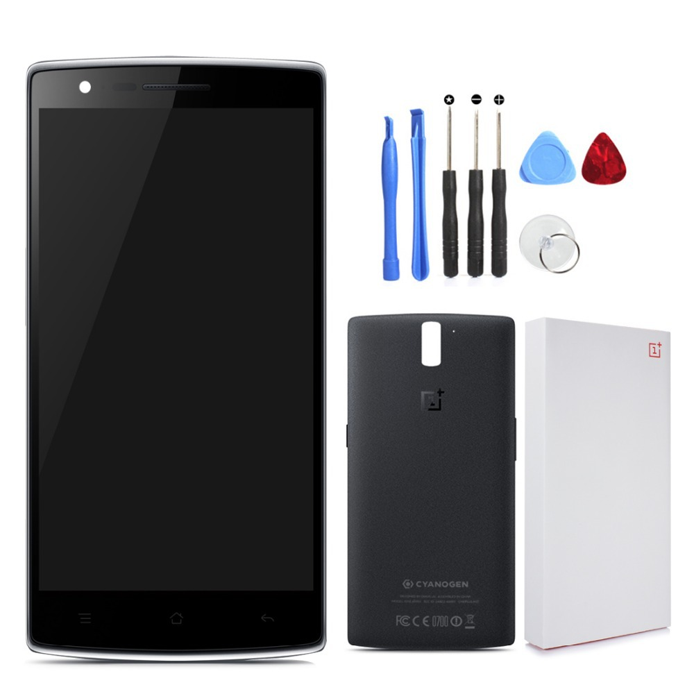 Middle Frame for Oneplus One LCD Display Touch Screen Assembly with Screen Digitizer Replacement Parts + Tools + Battery Cover(China (Mainland))
