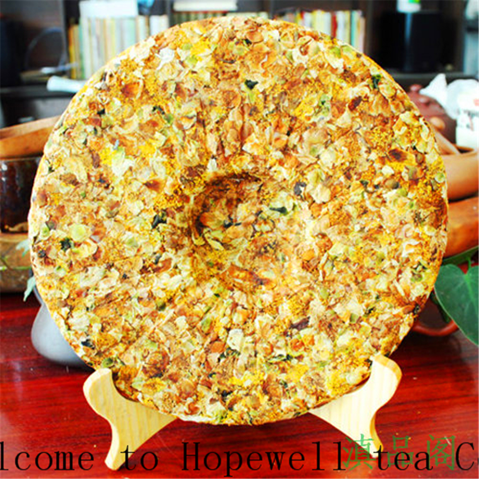 Free shipping 357g New product Flowers and plants in puer tea Snow mountain ancient tree Pure