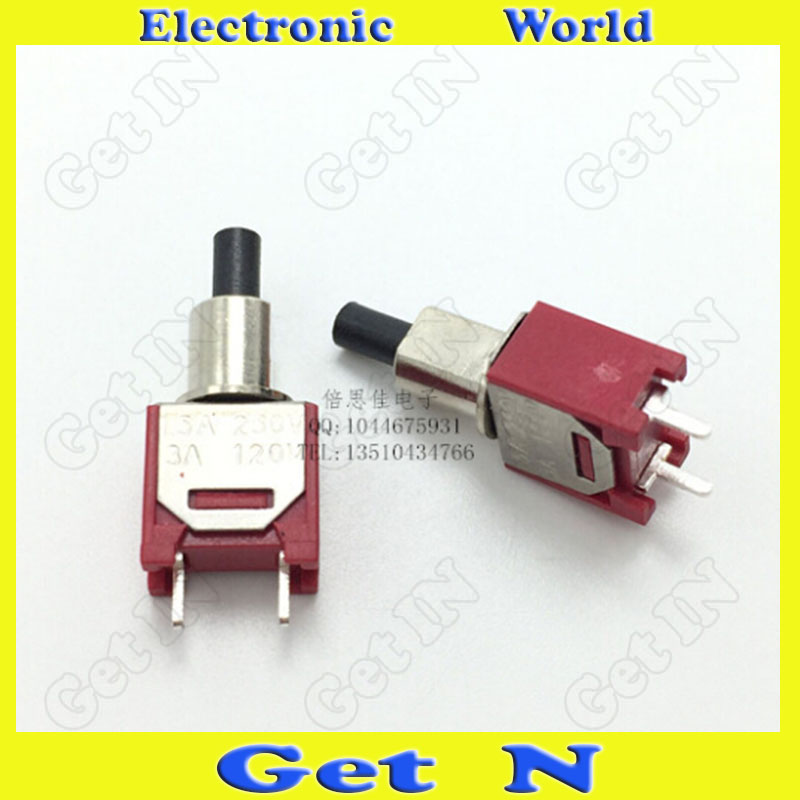 20pcs    Toggle Switches ON-OFF 6A AC120V Rocker Toggle Switch Buttons 2 DIP Pins 2Files<br><br>Aliexpress