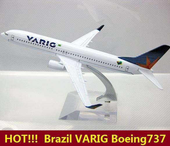 HOT!!! Brazil Airlines VARIG B737-800 Boeing aircraft model airplane model,16cm Metal plane model,children's toys,Christmas gift(China (Mainland))