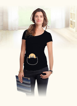 """""""Baby peeking out"""" 2015 New Maternity Shirt specialized for pregnant women plus size European big size XXL(China (Mainland))"""