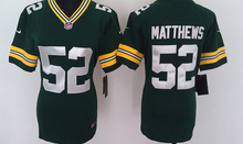 2016 Women Ladies Green Bay Packers,Aaron Rodgers,eddie lacy,Randall Cobb,Montgomery,Clay Matthews,100% stitched logo(China (Mainland))