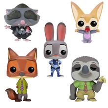 Zootipia Funko POP original Action figures Judy Nick Toys nendoroid PVC POP Funko movie action figures nerf Best gifts for kids