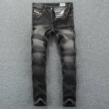 2015 New Fashion Designer Jeans For Men Disel Brand Mens Jeans,Black Color Printed Jeans Men Brand Pants,Casual Business Style(China (Mainland))