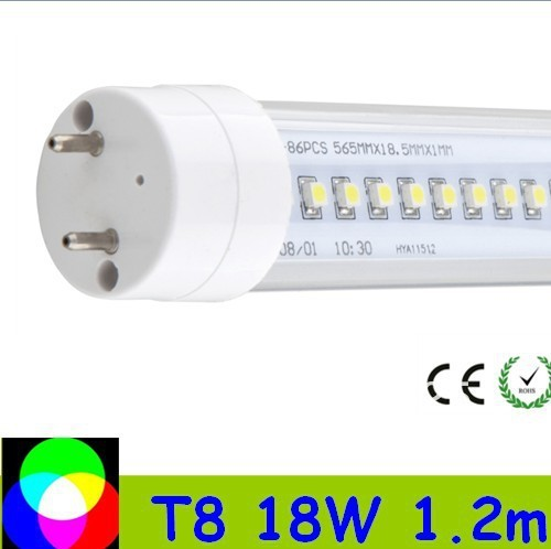 80pcs 18W T8 LED Tube 1200mm Light 18W SMD3014 Warm White/Cool White 1800lm PC Cover Fedex Free shipping 80pcs