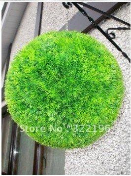 35cm diameter artificial plastic grass ball boxwood ball for Artificial grass indoor decoration