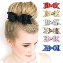 Buy Girls Young Shining Bowknot Fashion Hair Clip Glitter Bow Barrette Hair Accessory Cute Bowknot Hairpins Female C2 for $1.10 in AliExpress store