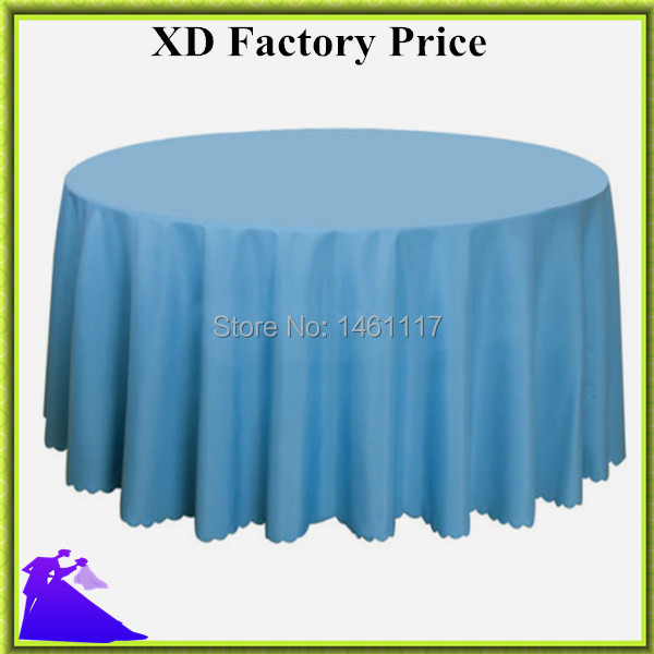 """Retail Wholesale blue polyester 120"""" Round Tablecloth for restaurant decoration Free Shipping !!(China (Mainland))"""