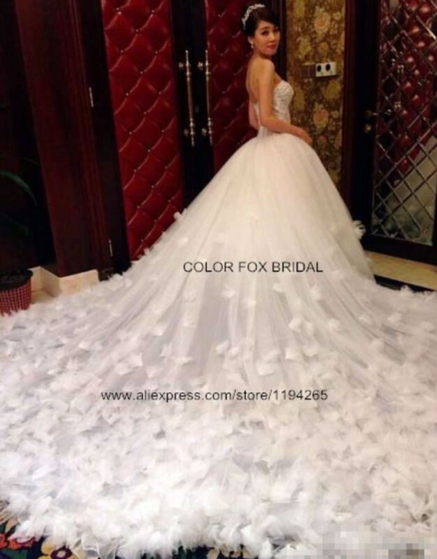 Sexy Crystals Beaded Corset Bodice Ball Gown Real Sample Photo Cathedral Train Bridal Wedding Dresses 2014 New Arrival(China (Mainland))
