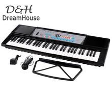 Domestic Dilivery Fashion 61 Keys Digital Electronic Music Piano Keyboard Electric Organ Black 36US(China (Mainland))