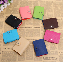 Fashion Soft Pu Leather ID Credit Bank Card bag Casual Card Holders for Woman Female Male