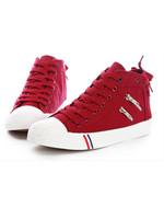New Arrival Ladies Zip Platform  Canvas Shoes Big Size 38-43 Women Fashion Round Toe Mixed Color Lace Up Flat Heel Shoes55