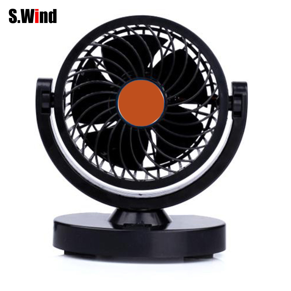 12V 4.5W 360 Degree Rotating Car Mini Fan Strong Wind Auto Car Cool Fan Air Ventiladores Para Vehiculos(China (Mainland))