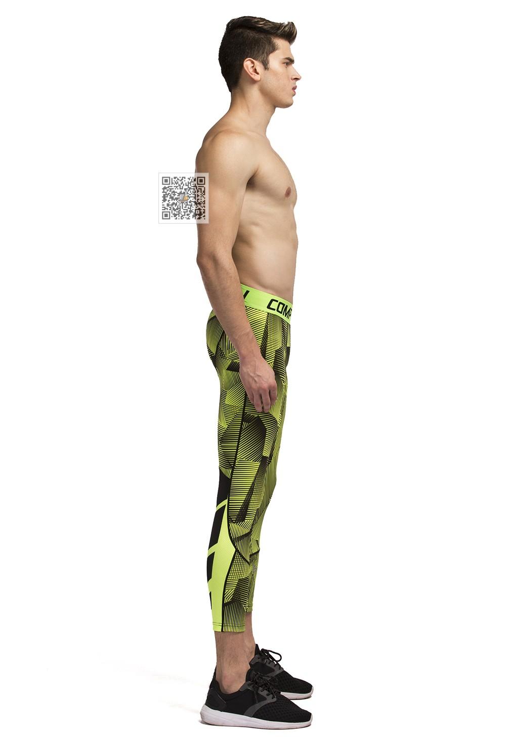 Vansydical Geometric Skinny Sport Yogo Fight Shorts for Men (5)