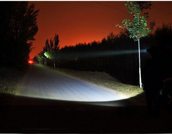 Купить XML T6 СВЕТОДИОДНЫЙ Туризм Факел 2000 Люмен Boruit Глава свет Лампы Фары Фара + DC/Автомобильное Зарядное Устройство + 2*18650 Батареи
