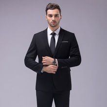 2016 new men's fashion business casual long sleeve suits / Men's One button Blazers suit jacket + pants sets(China (Mainland))