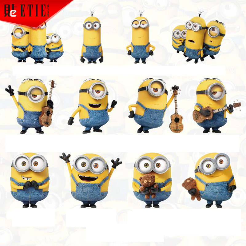 ETIE 2015 Minions Sticker PVC Printing Decals Motorcycle Accessories Car Styling Sticker Adhesive Funny Vinyl Reflective Sticker(China (Mainland))