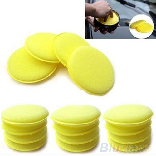 12x Waxing Polish Wax Foam Sponge Applicator Pads For Clean Cars Vehicle Glass 0BGO(China (Mainland))