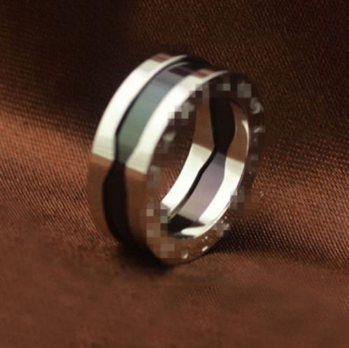 Black Ceramics Stainless Steel Silver Rings For Man Fine Jewelry Rings Aneis Anel Aeminino Anillos Anello Anel Masculino Anello(China (Mainland))