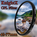 KnightX 49mm 52mm 55mm 58mm 67mm 77mm cpl polarizing Filter for Canon Nikon Sony DSLR SLR