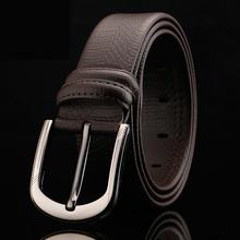 Buy New 4 Style Black Brown Belts Men Designer Belts Men High Luxury Brand Belt 2017 Genuine Leather pin Strap for $11.76 in AliExpress store